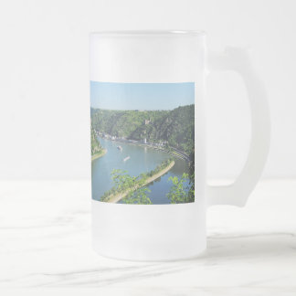 Rhine Valley to the Loreley Frosted Glass Beer Mug