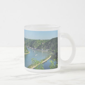 Rhine Valley to the Loreley Frosted Glass Coffee Mug