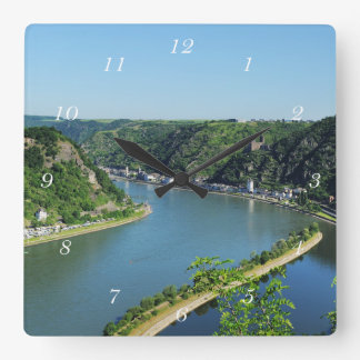 Rhine Valley to the Loreley Square Wall Clock