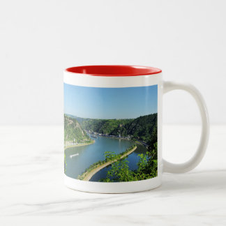 Rhine Valley to the Loreley Two-Tone Coffee Mug
