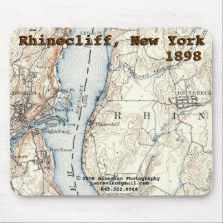 Rhinecliff Historic Map mousepad