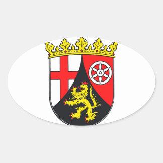 Rhineland-Palatinate coat of arms Oval Sticker