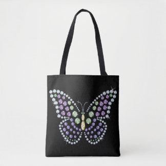 Rhinestone Butterfly Design Tote Bag