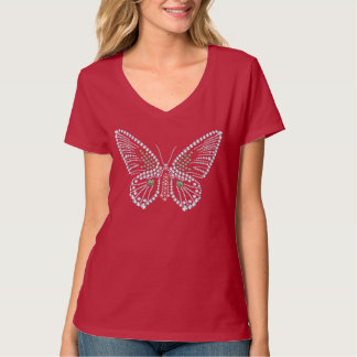 Rhinestone Butterfly Tshirt Diamonds Design