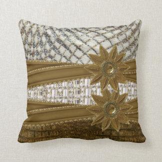 Rhinestone Glitter Gems & Flower  Pillow  Set