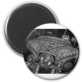 Rhinestone Harley in bw Magnet