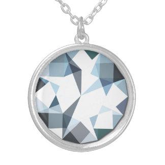 Rhinestone Pendant Necklace Diamond Design