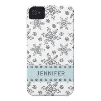 Rhinestone Snowflake iPhone 4 /4s Case Mate Cover