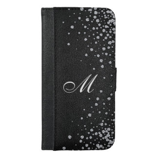 Rhinestone wallet case Monogram iphone 6 case