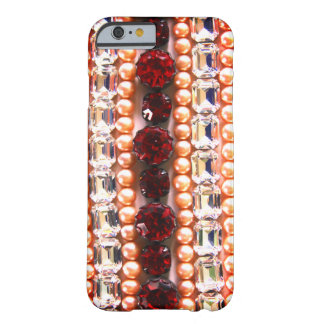 Rhinestones and pearls - vintage jewelry barely there iPhone 6 case