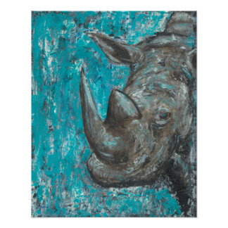 Rhino380 - Abstract Rhinosceros Art Poster