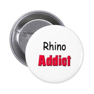 Rhino Addict Pinback Buttons