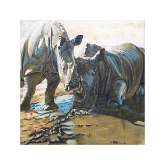 rhino art canvas print
