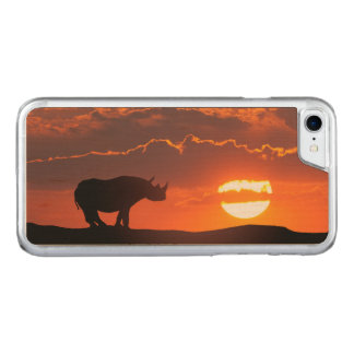 Rhino at sunset, Masai Mara, Kenya Carved iPhone 8/7 Case
