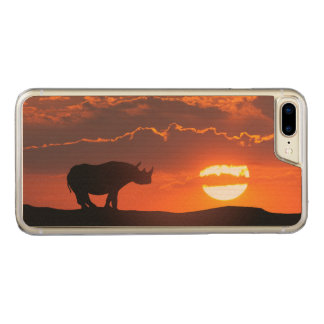 Rhino at sunset, Masai Mara, Kenya Carved iPhone 8 Plus/7 Plus Case