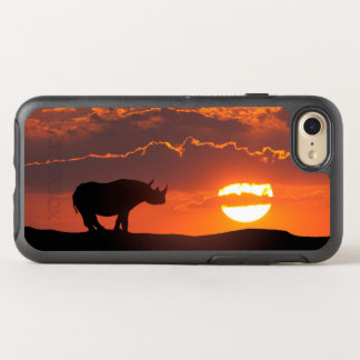 Rhino at sunset, Masai Mara, Kenya OtterBox Symmetry iPhone 8/7 Case