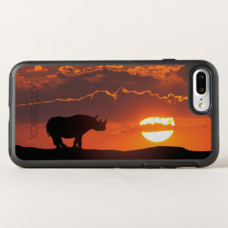 Rhino at sunset, Masai Mara, Kenya OtterBox Symmetry iPhone 8 Plus/7 Plus Case