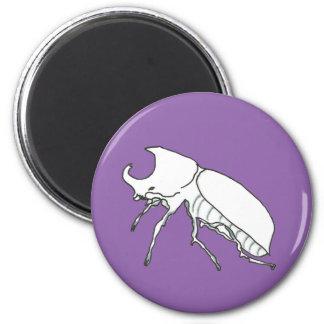 Rhino Beetle 2 Inch Round Magnet