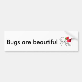 Rhino Beetle with Roses Bumper Sticker