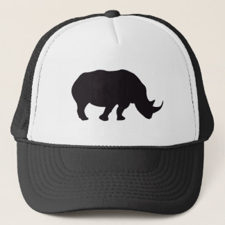 Rhino Black Animal Trucker Hat