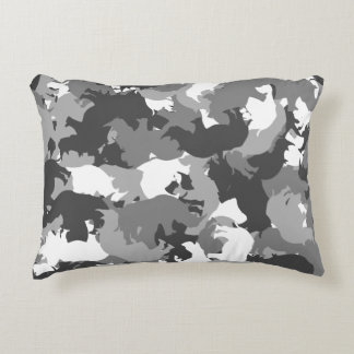 Rhino camouflage accent pillow