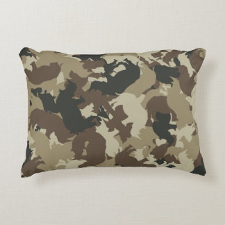 Rhino camouflage decorative pillow