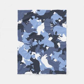 Rhino camouflage fleece blanket