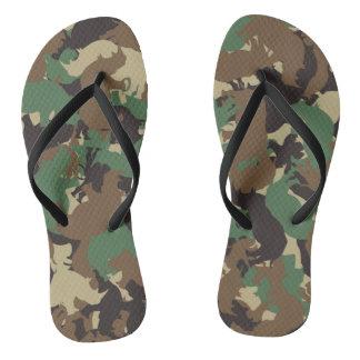 Rhino camouflage flip flops