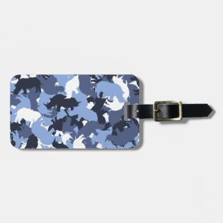 Rhino camouflage luggage tag