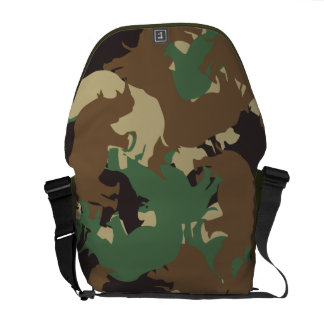 Rhino camouflage messenger bag