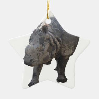 Rhino Ceramic Star Ornament