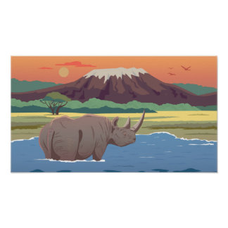 Rhino Children Poster