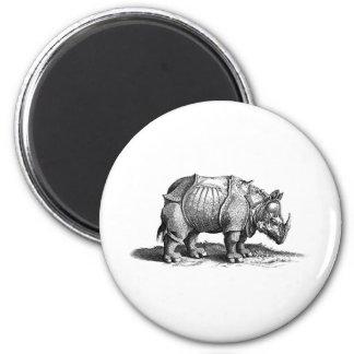 rhino-clip-art-1 2 inch round magnet
