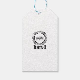 rhino club gift tags