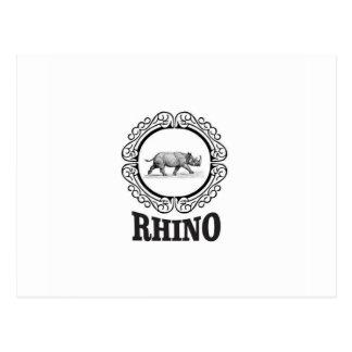rhino club postcard