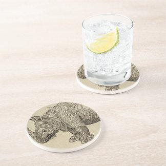 Rhino Drink Coaster