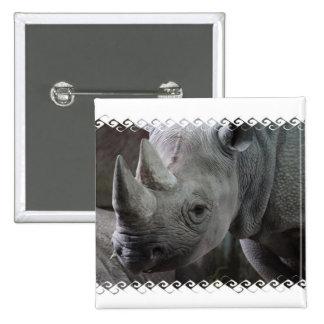 Rhino Facts Square Pin