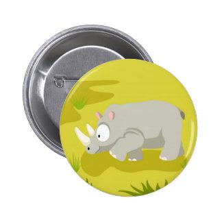 Rhino from my world animals serie 2 inch round button
