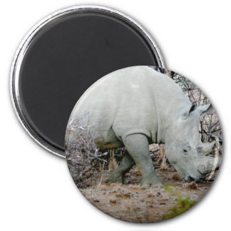 Rhino from South Africa 2 Inch Round Magnet