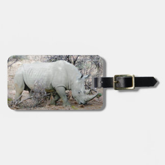 Rhino from South Africa Luggage Tag