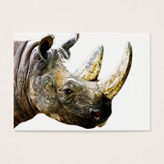 Rhino Head, White Background Business Card