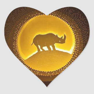 Rhino Heart Sticker