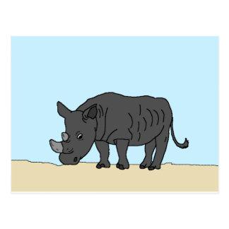 Rhino in the Savanna Postcard
