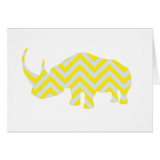 Rhino Note Card Yellow and Grey