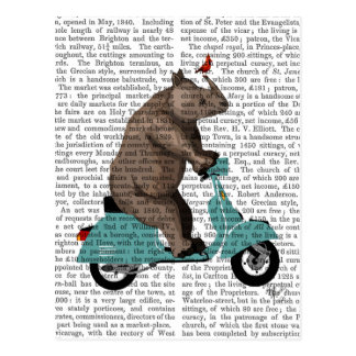 Rhino on Moped Postcard