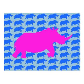 Rhino Pattern Art Postcard