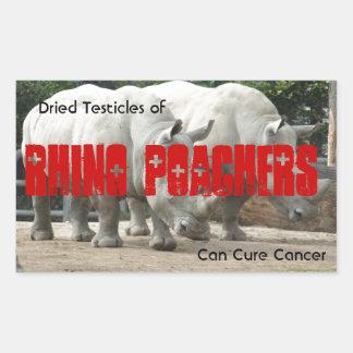 Rhino Poachers Sticker