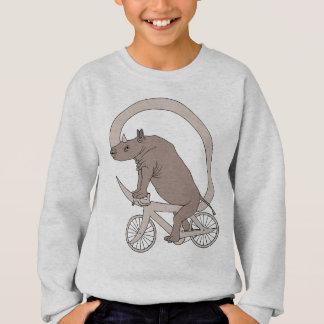 Rhino Riding With Its Horn Bike Sweatshirt