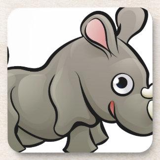 Rhino Safari Animals Cartoon Character Coaster