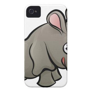 Rhino Safari Animals Cartoon Character iPhone 4 Cases